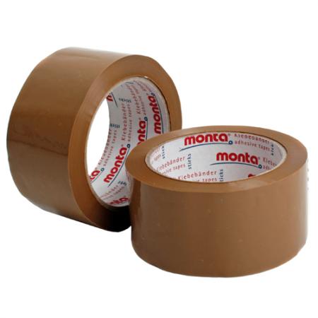 PVC-Klebeband monta Pack 281, 75 mm breit - braun