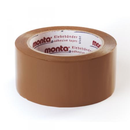 PVC-Klebeband monta Pack 200, 50 mm breit - braun