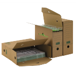 Hänge-Ablagebox 120 PREMIUM A4+ braun