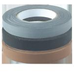 Zellwollgewebe-Klebeband 19mm breit in schwarz, grau, weiß oder braun